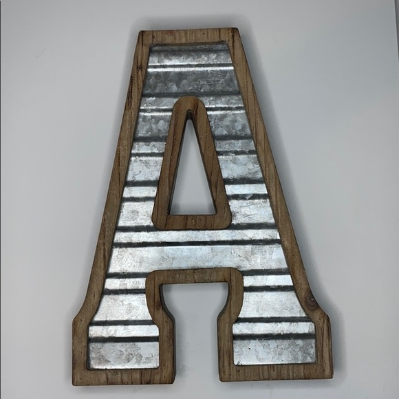 Hobby Lobby Other - Rustic wood and tin Letter A